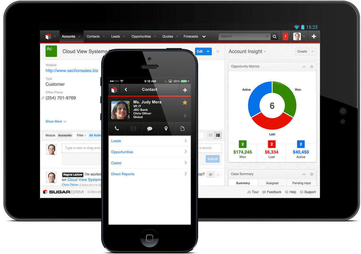 SugarCRM Phone and Tablet