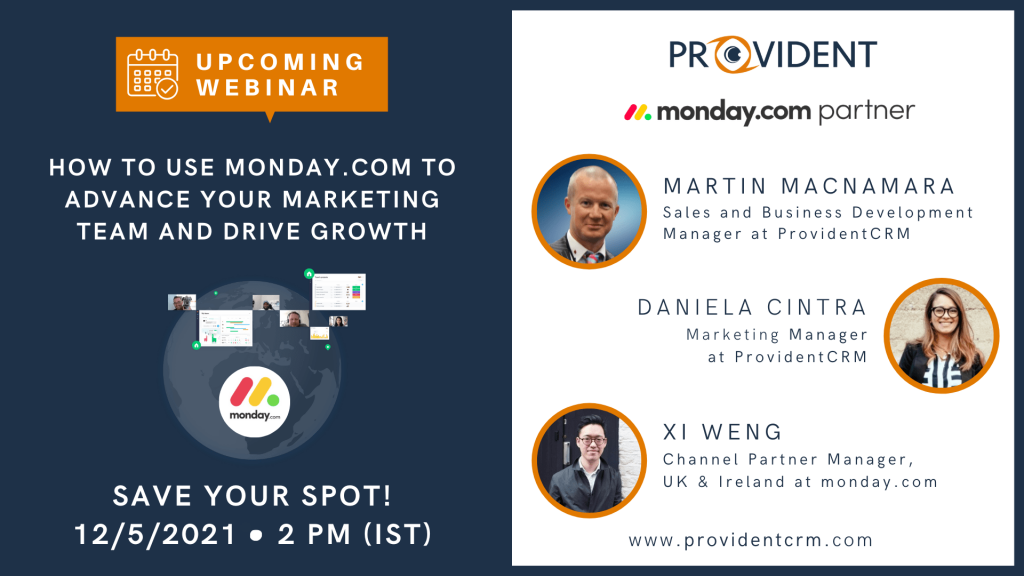 Provident CRM Webinar monday.com for Marketing