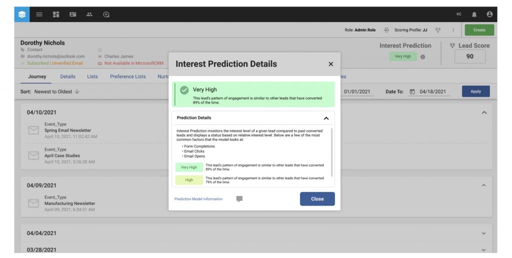 Provident CRM Sugar CRM Interest Prediction Details